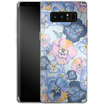 Samsung Galaxy Note 8 Silikon Handyhuelle - Pretty Pansy von Stephanie Breeze