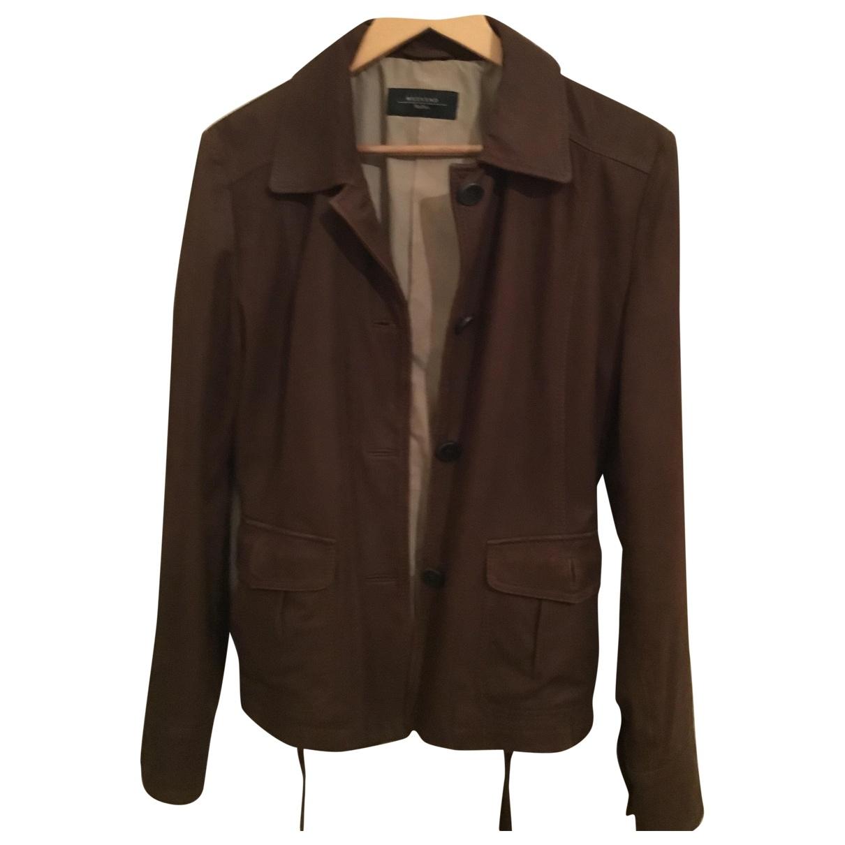 Max Mara Weekend \N Brown Leather jacket for Women 14 UK