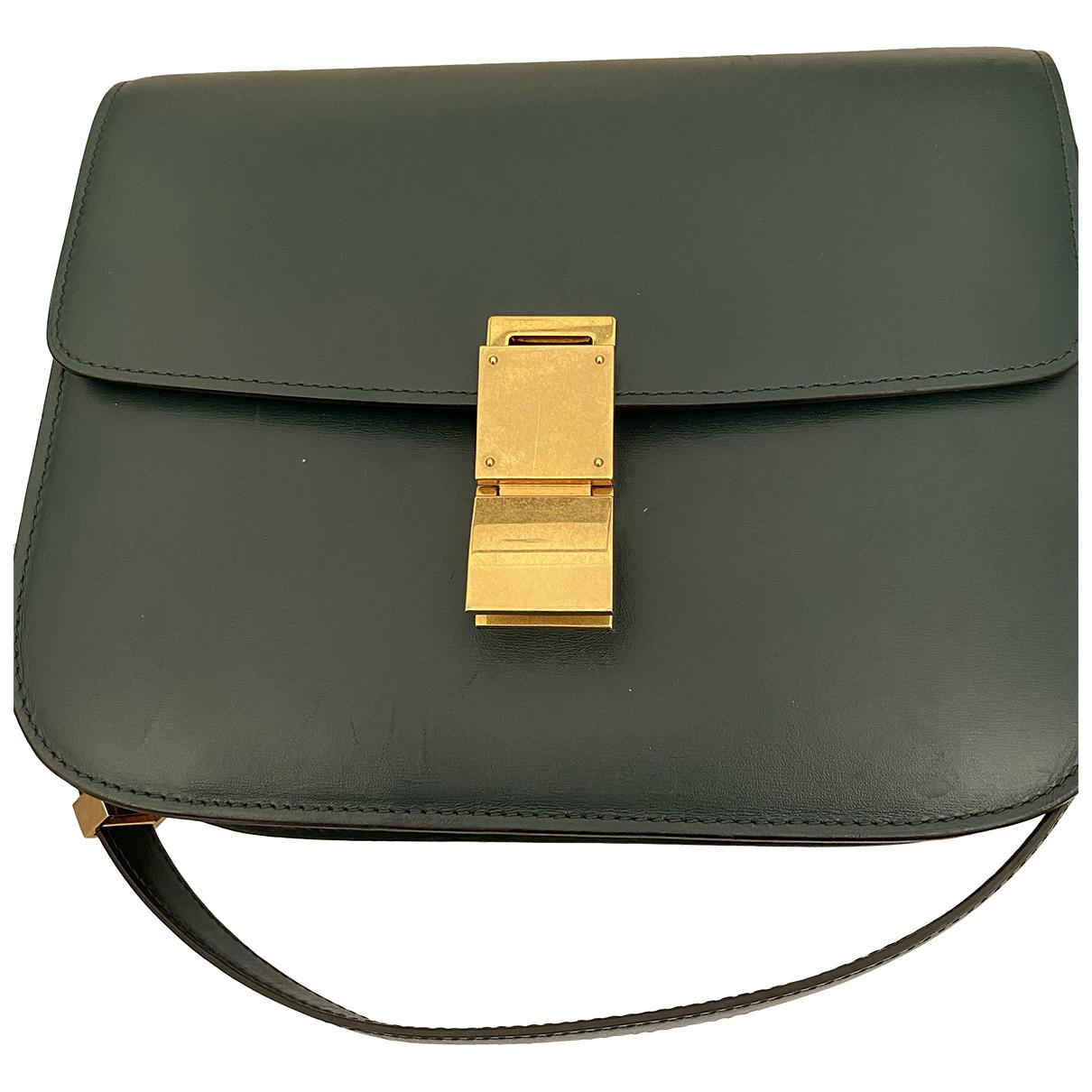 Celine Classic Green Leather handbag for Women N