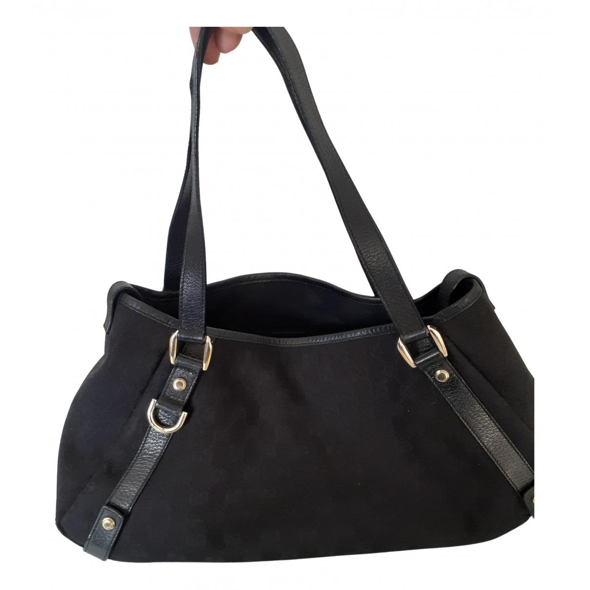 Gucci Pelham Handtasche in  Schwarz Leinen