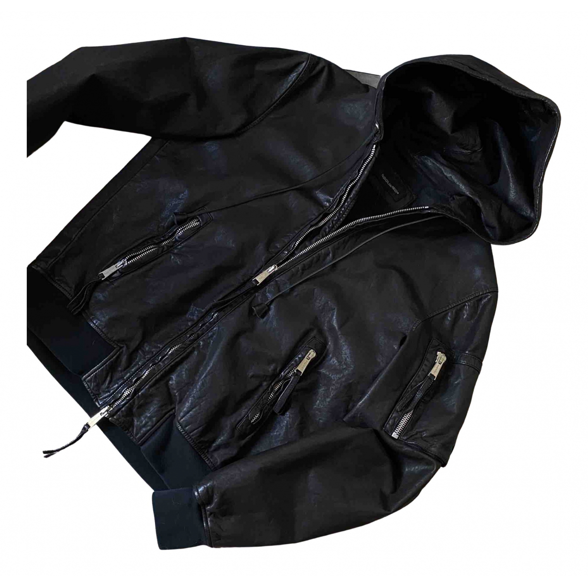 Dsquared2 - Vestes.Blousons   pour homme en cuir - noir