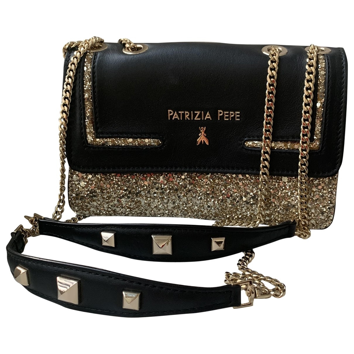 Patrizia Pepe \N Clutch in  Gold Mit Pailletten