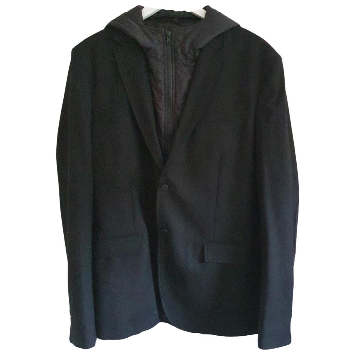 The Kooples - Vestes.Blousons   pour homme en laine - noir