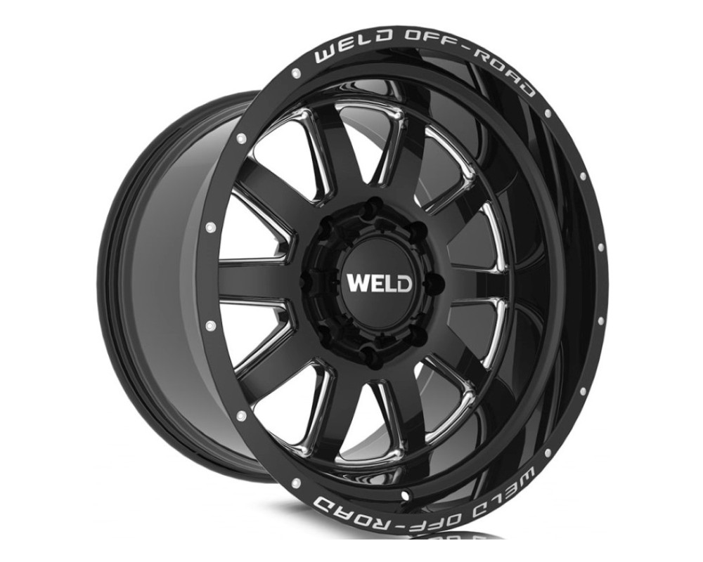 Weld Racing W10209017500 Stealth Wheel 20x9 8x170 00mm Gloss Black Milled