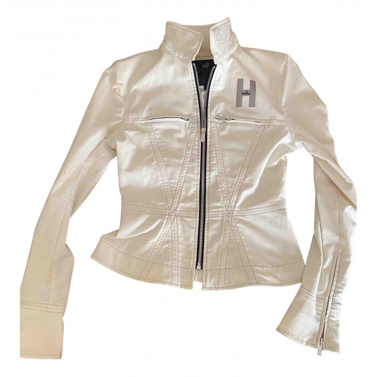 Hogan - Veste   pour femme en denim - blanc