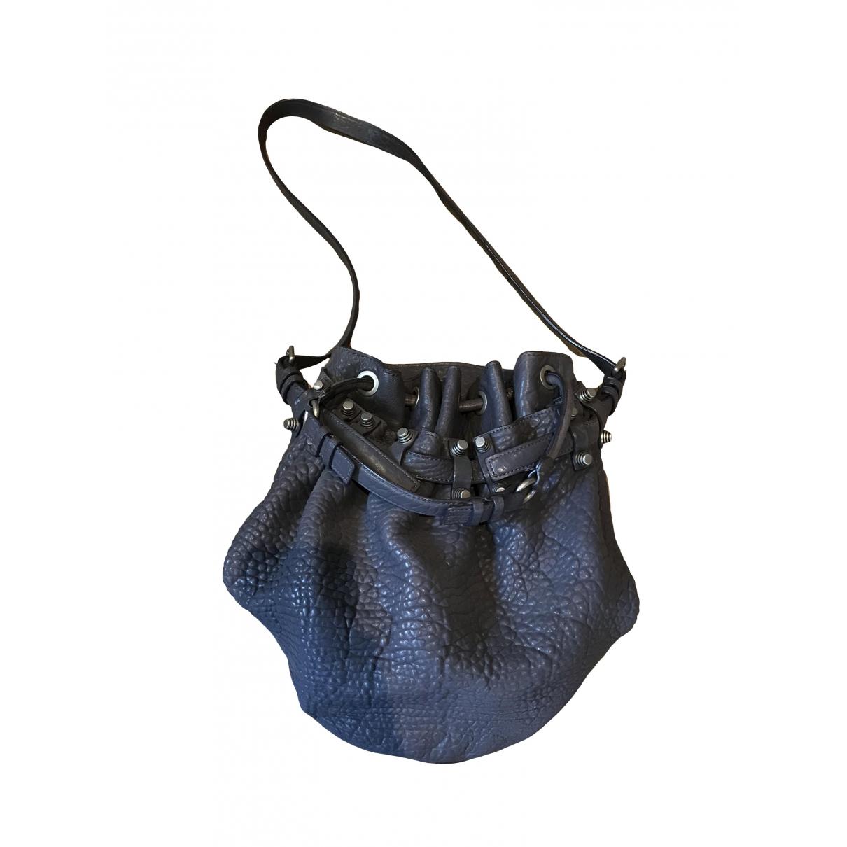 Alexander Wang Diego Grey Leather handbag for Women \N