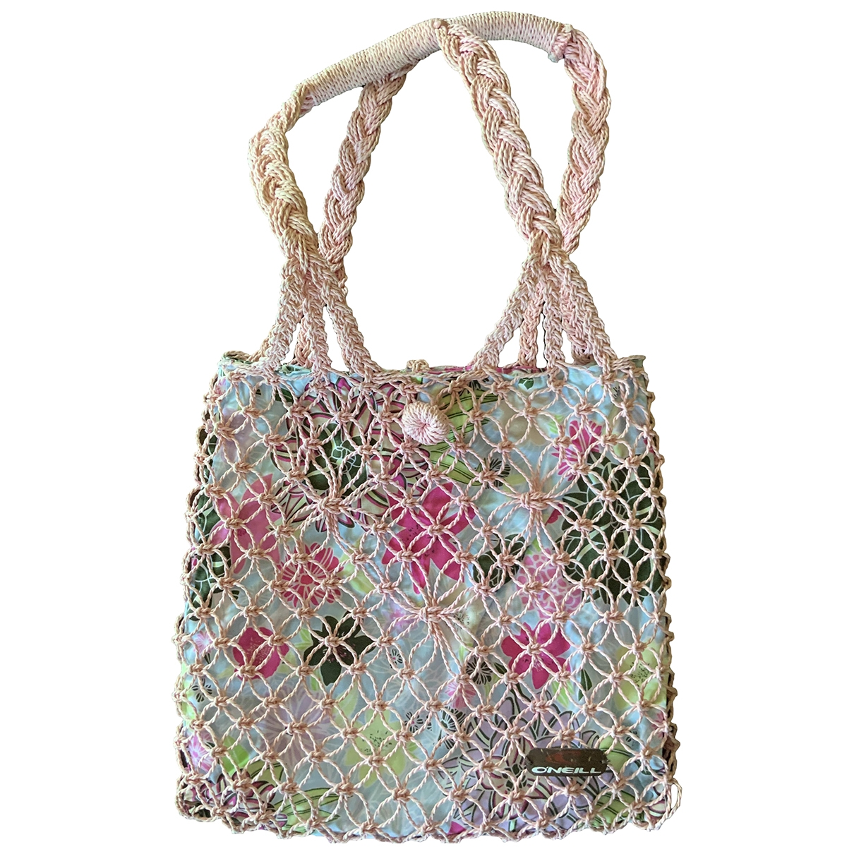 Non Signé / Unsigned \N Pink Wicker handbag for Women \N