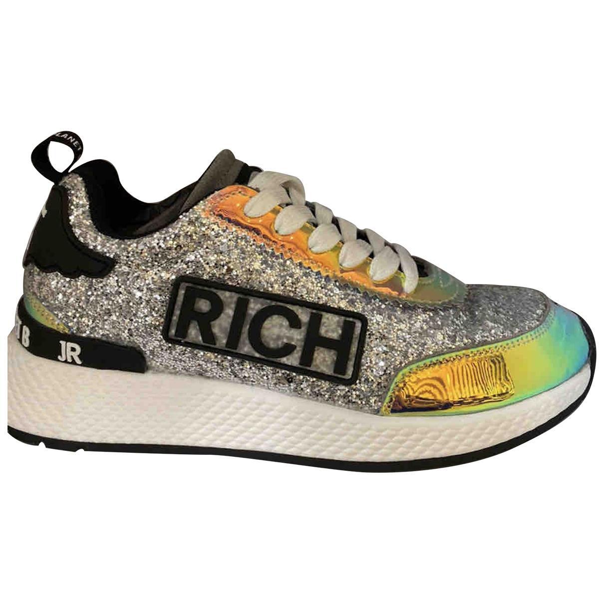 John Richmond \N Sneakers in  Silber Mit Pailletten