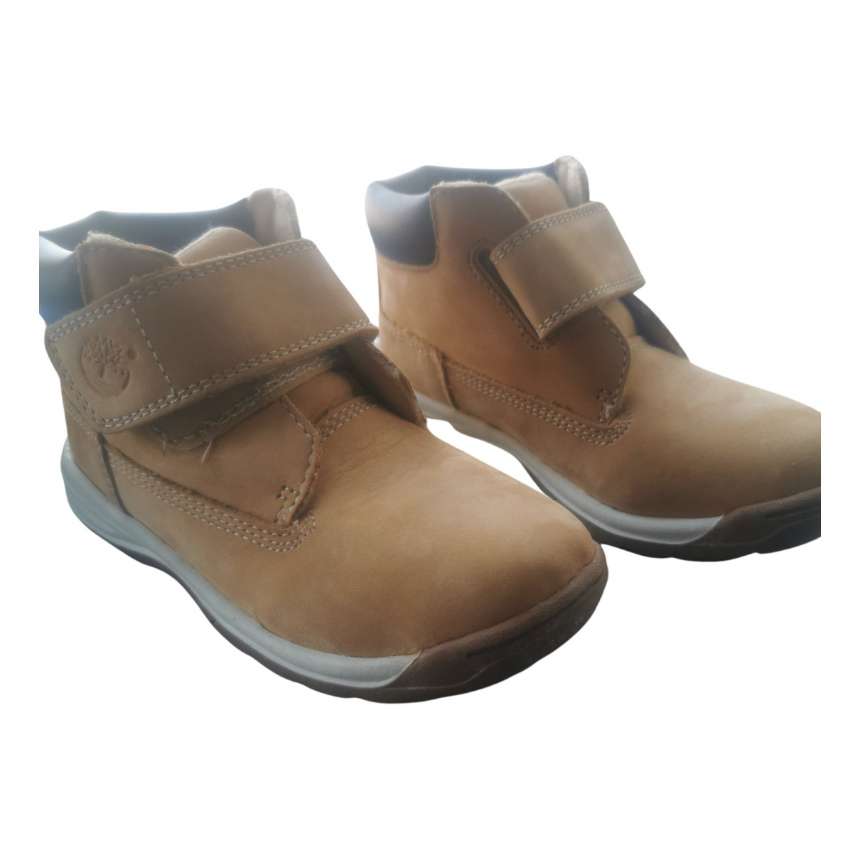 Timberland - Bottes.Bottines   pour enfant en cuir - camel
