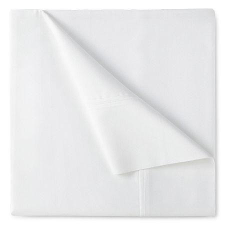 400tc Liquid Cotton Sateen Sheet Set - Liz Claiborne, One Size , White