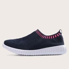 Slip On Low Top Knit Sneakers