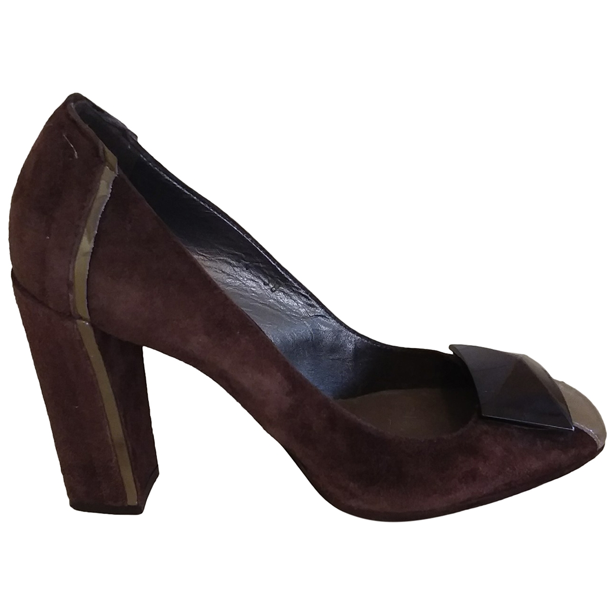 Vic Matie \N Pumps in  Braun Veloursleder