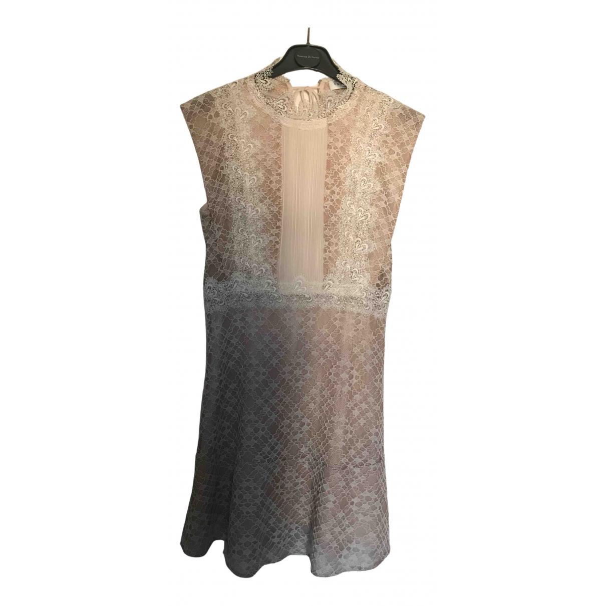 Sandro \N Kleid in  Rosa Spitze