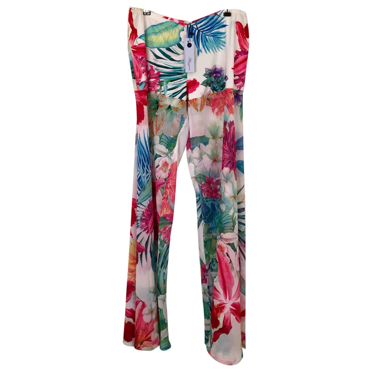 Blumarine \N White Trousers for Women XL International