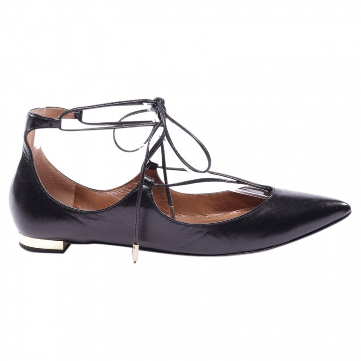 Aquazzura \N Black Leather Sandals for Women 37 EU