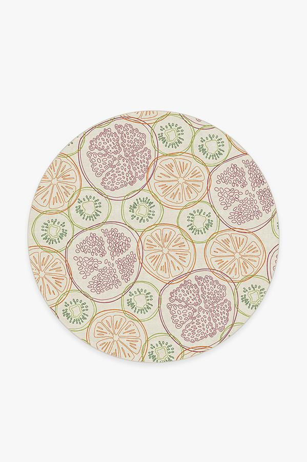 Washable Rug Cover & Pad | Fruit Punch Multicolor Rug | Stain-Resistant | Ruggable | 6' Round