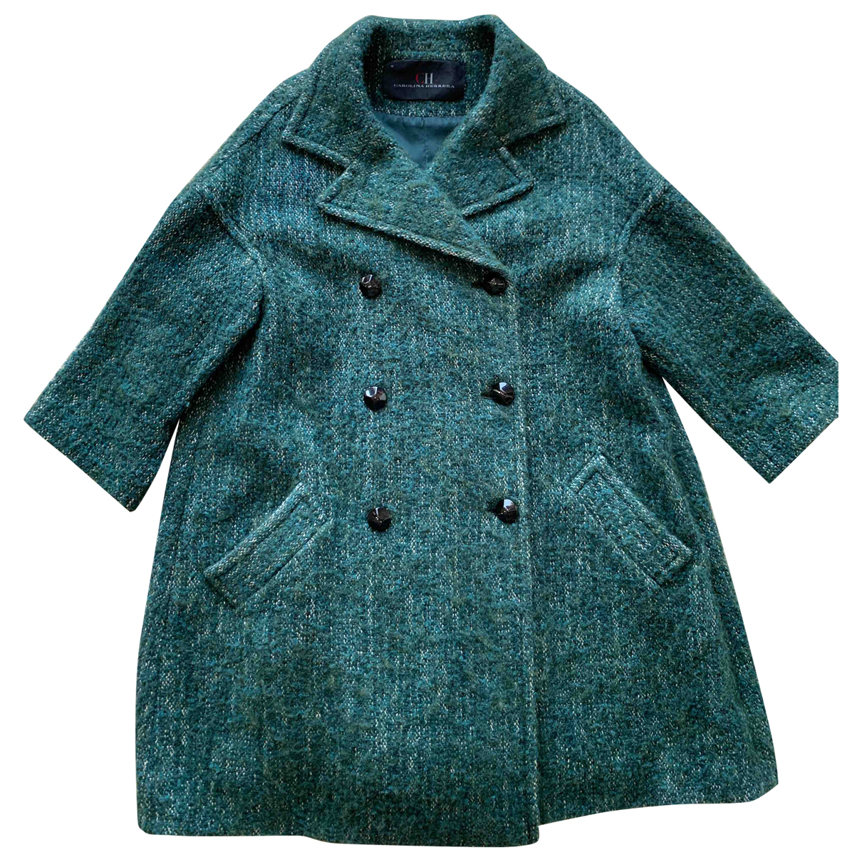 Carolina Herrera - Manteau   pour femme en laine - vert