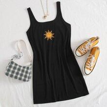 Tank Kleid mit Sonne Muster