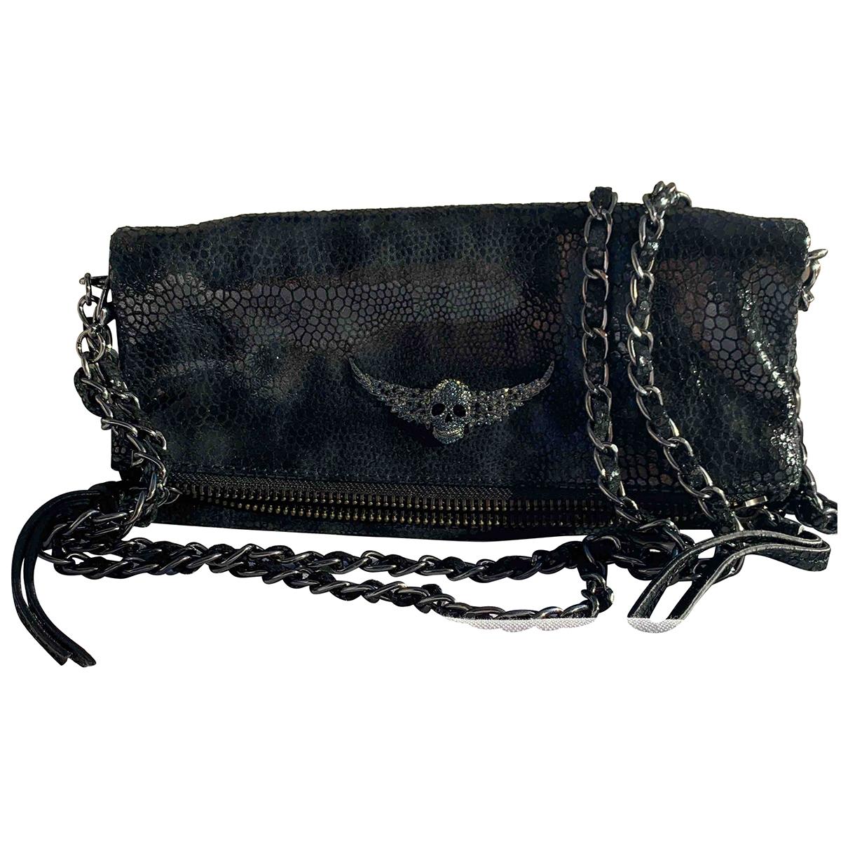 Zadig & Voltaire - Pochette Rock pour femme en cuir - noir