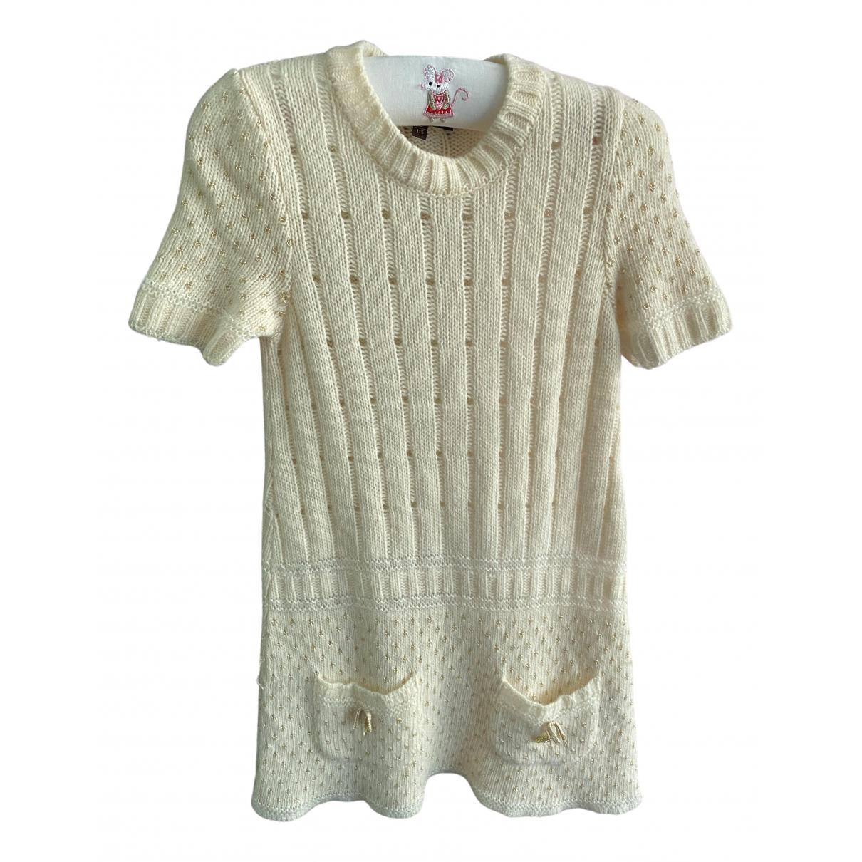 Roberto Cavalli - Robe    pour enfant en laine - beige