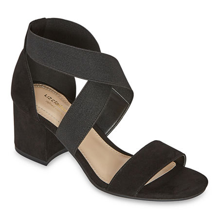 Liz Claiborne Womens Eaves Heeled Sandals, 6 1/2 Wide, Black