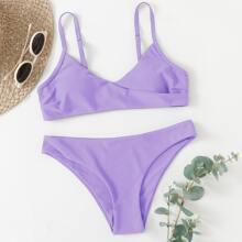 Bikini Badeanzug mit V Ausschnitt