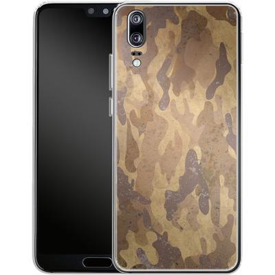 Huawei P20 Silikon Handyhuelle - Camo Bark von caseable Designs
