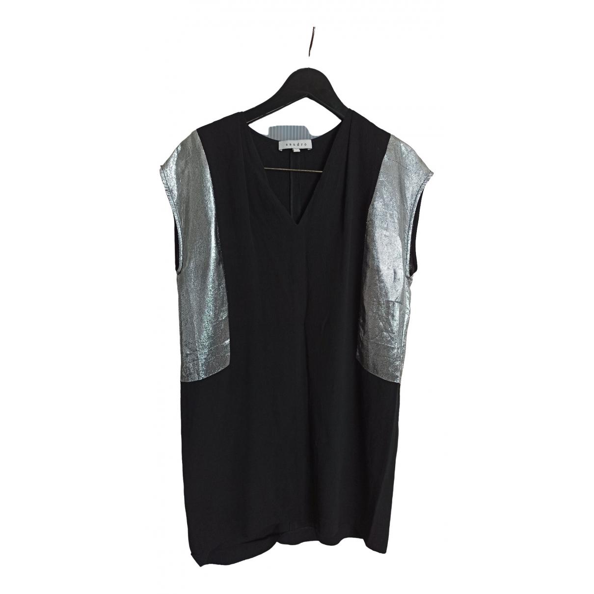 Sandro \N Black dress for Women 2 0-5