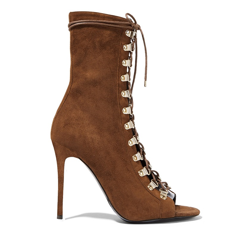 Ericdress Side Zipper Stiletto Heel Plain Western Boots
