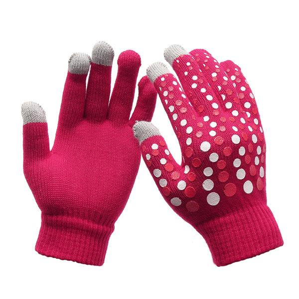 Women Ladies Winter Warm Touch Screen Cute Gloves Fabric Sport Cycling Full-finger Gloves
