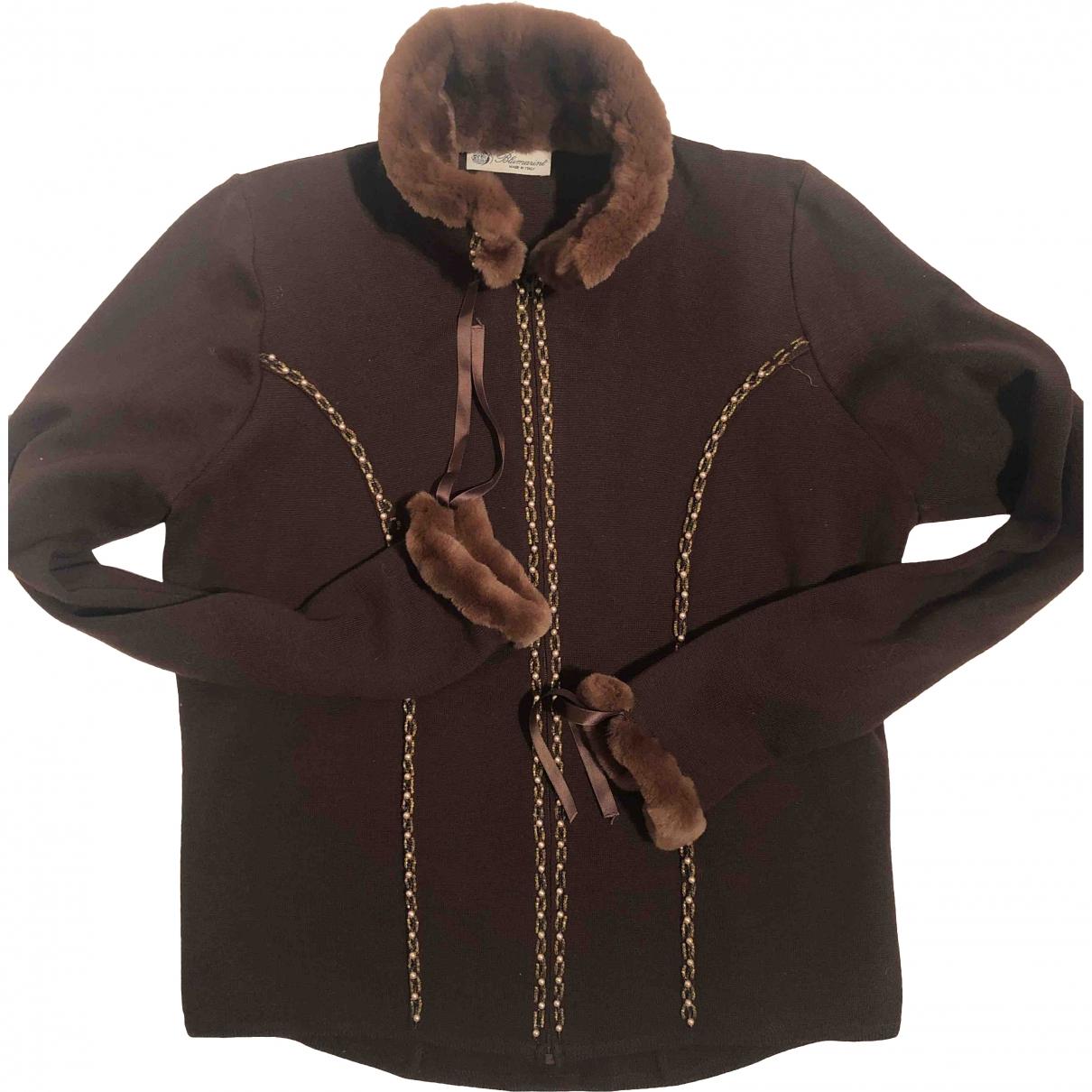 Blumarine \N Brown Wool Knitwear for Women 40 IT