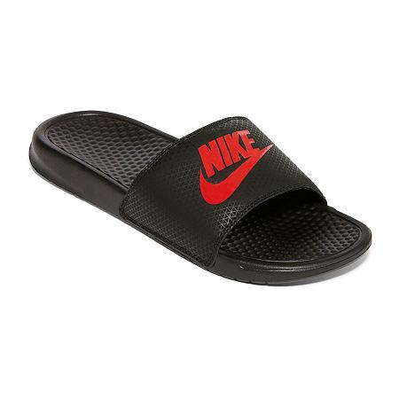 Nike Benassi JDI Mens Slide Sandals, 7 Medium, Gray