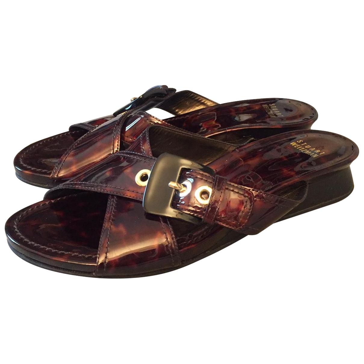 Stuart Weitzman \N Multicolour Patent leather Sandals for Women 8.5 US