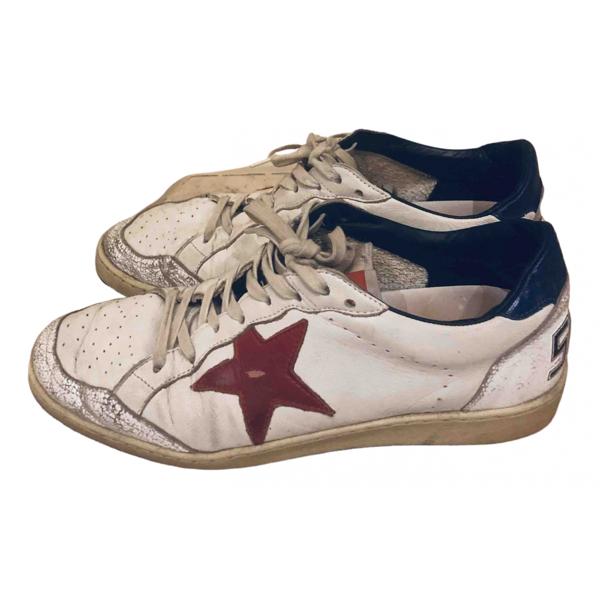 Golden Goose Ball Star Beige Leather Trainers for Men 41 EU