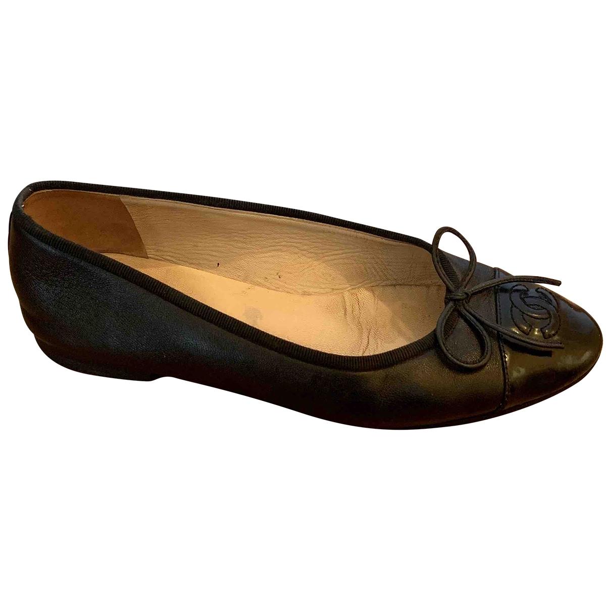 Chanel \N Black Leather Ballet flats for Women 36 IT