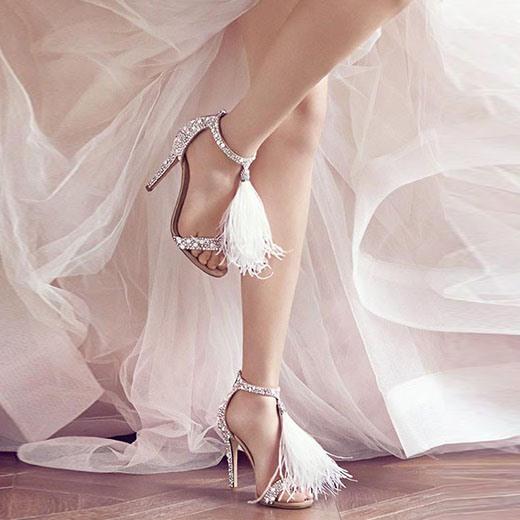 Ericdress Stiletto Heel Open Toe Fringe 10cm Thin Shoes