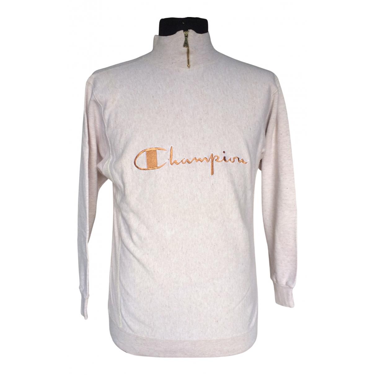 Champion \N Pullover.Westen.Sweatshirts  in  Grau Baumwolle