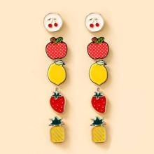 5pairs Fruit Stud Earrings