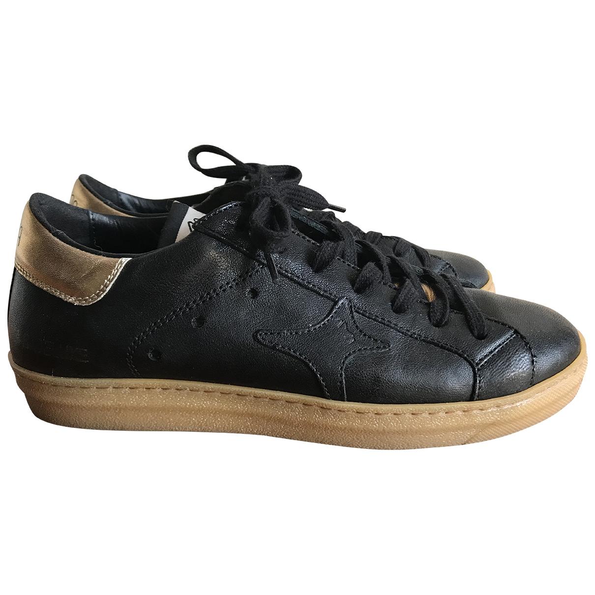 Ama Brand - Baskets   pour femme en cuir - noir