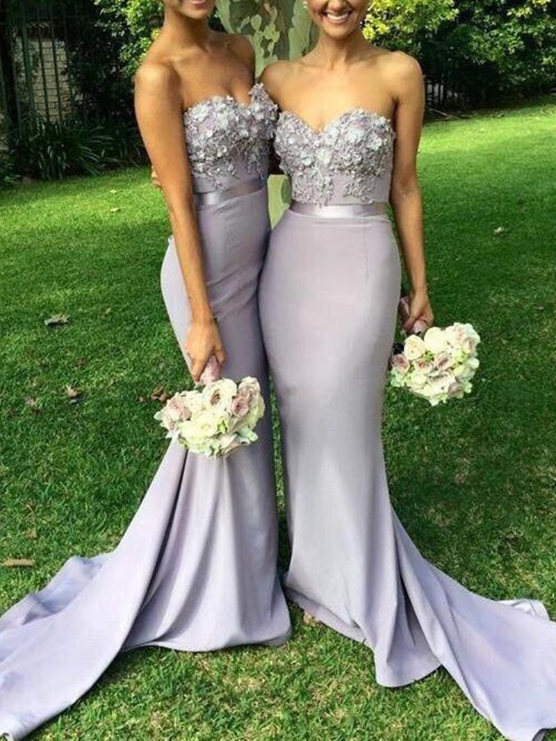 Ericdress Sweetheart 3D Floral Mermaid Bridesmaid Dress