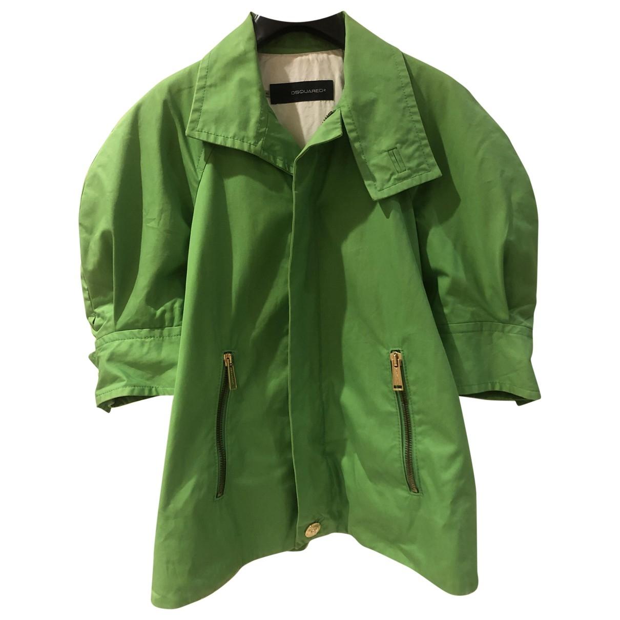 Abrigo en Algodon Verde Dsquared2