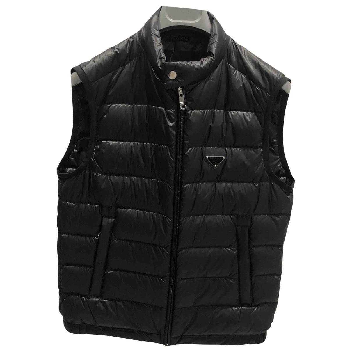 Prada \N Black Cloth coat  for Men 48 IT