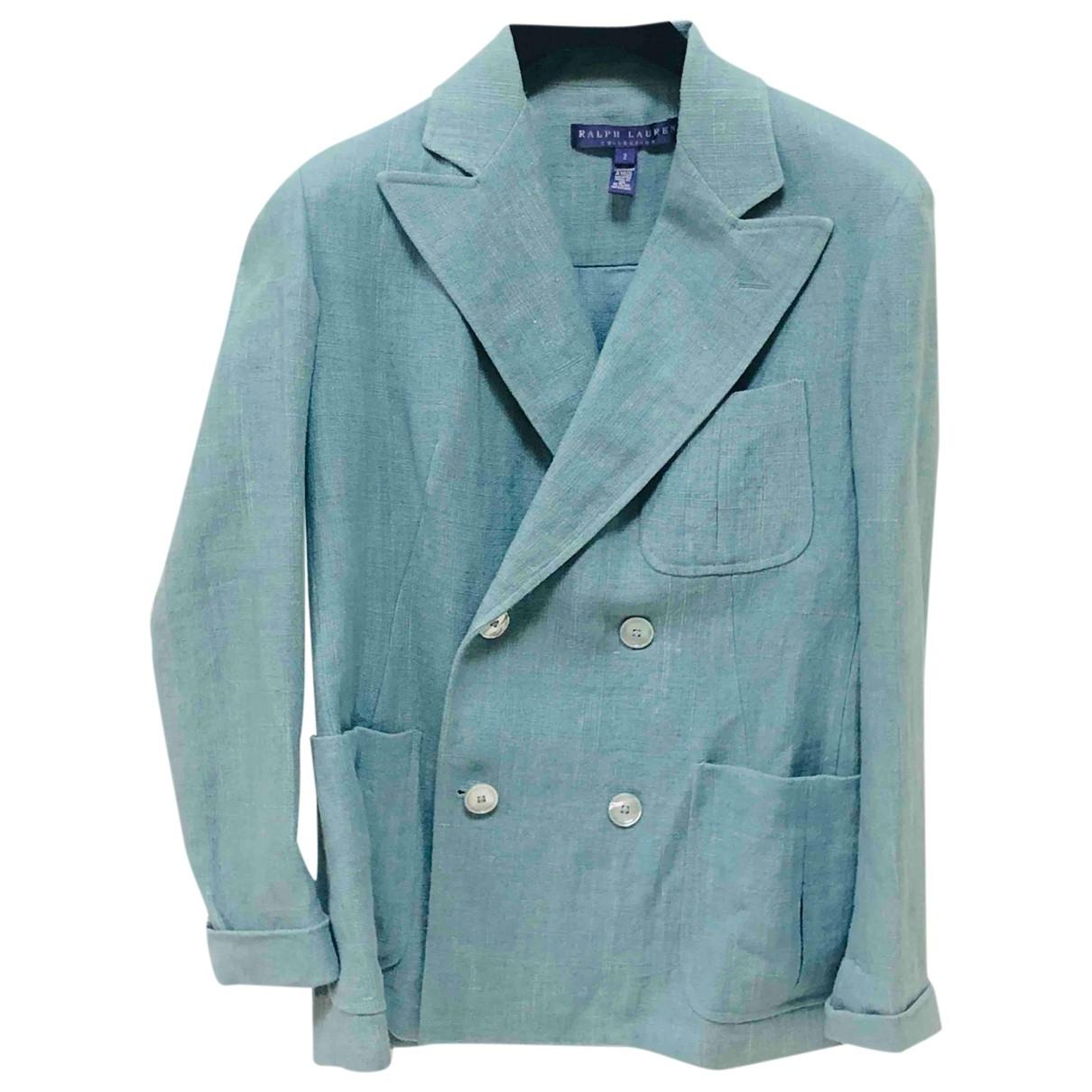 Ralph Lauren Collection \N Jacke in  Blau Leinen