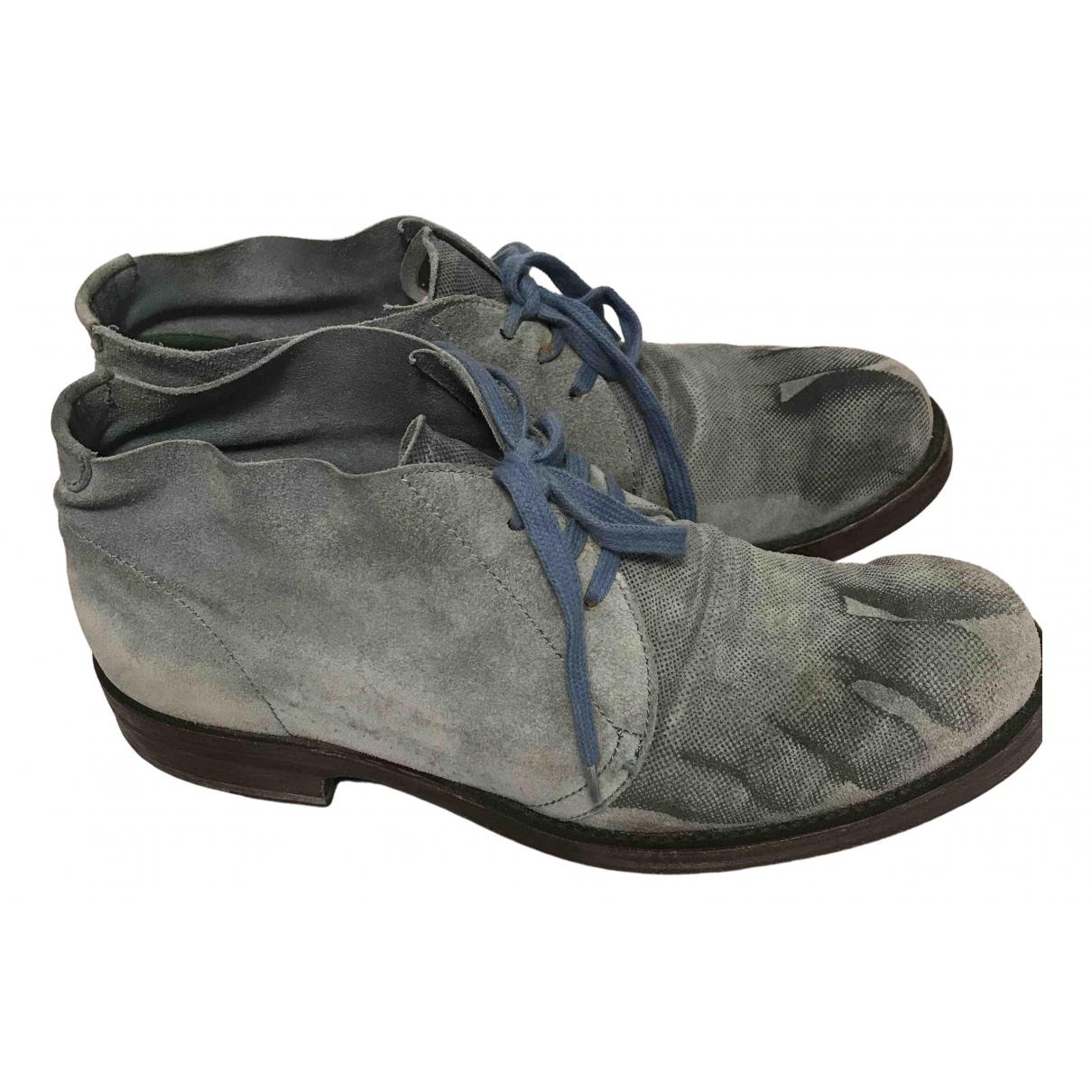 Vivienne Westwood \N Stiefel in  Blau Veloursleder