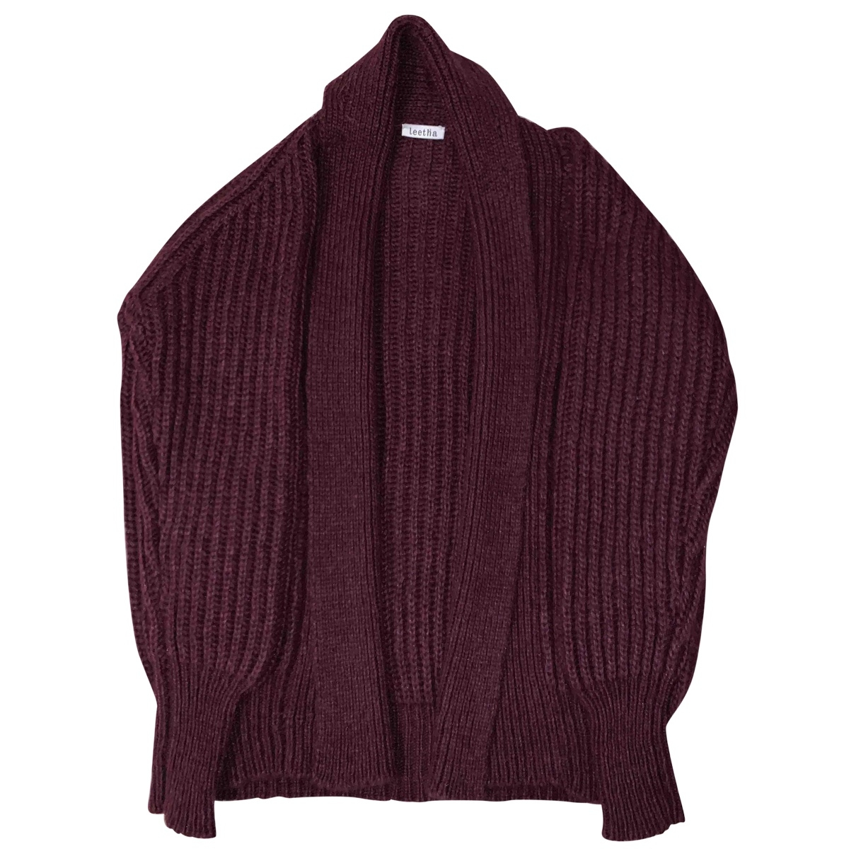 Leetha \N Pullover in  Bordeauxrot Wolle