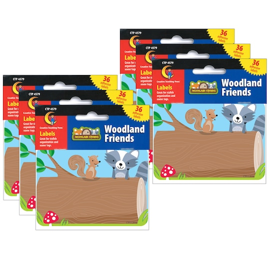Creative Teaching Press® Woodland Friends Name Tag Labels, 6 Packs Of 36 | Michaels®