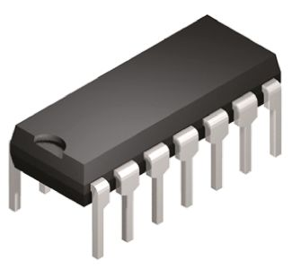 Texas Instruments SN74HC03N, Quad 2-Input NAND Logic Gate, 14-Pin PDIP
