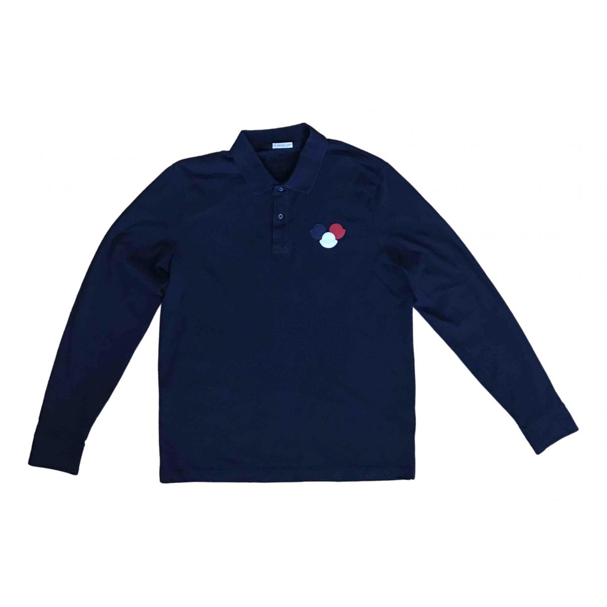 Moncler - Polos   pour homme en coton - bleu