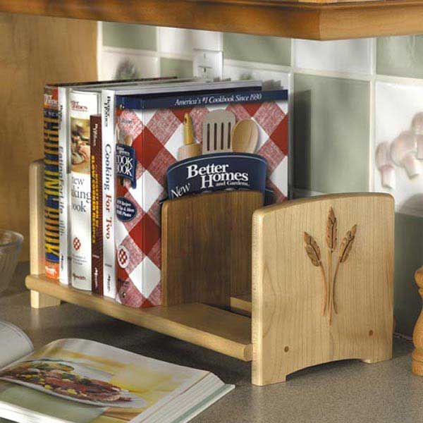 Woodworking Project Paper Plan to Build Chef's Bookshelf