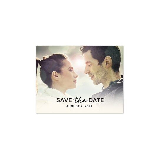 20 Pack of Gartner Studios® Personalized Soft Birch Wedding Save The Date Postcard in Ivory | 4.25
